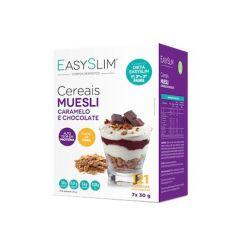Easyslim Cereais Muesli, Caramelo e Chocolate Saquetas 7x30gr