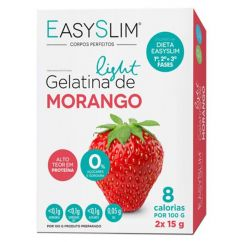 Easyslim Gelatina Saquetas Morango 2x15g