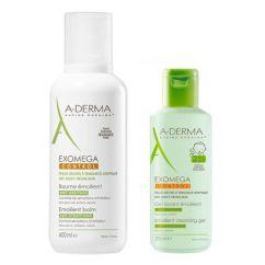 A-Derma Exomega Control Pack Bálsamo Emoliente oferta Gel Duche