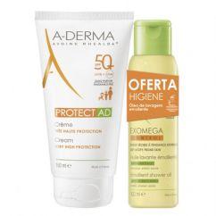 A-Derma Protect AD Pack Creme Solar oferta Óleo Duche