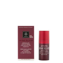 Apivita Wine Elixir Creme Antienvelhecimento Olhos e Lábios 15ml