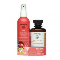 Apivita Kit Criança Spray Solar SPF50 + Gel Limpeza Cabelo e Corpo