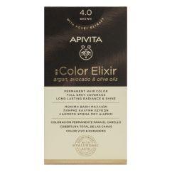 Apivita My Color Elixir Coloração Permanente Cor 4.0 Castanho