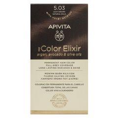 Apivita My Color Elixir Coloração Permanente Cor 5.03 Castanho Claro Dourado