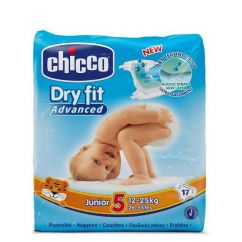 Chicco Dry Fit Junior T5 Fraldas 12-25kg 17unid.