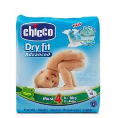 Chicco Dry Fit Maxi T4 Fraldas 8-18kg 19unid.