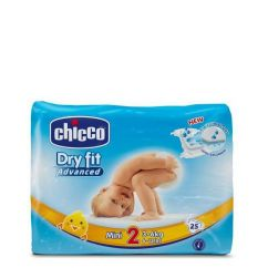 Chicco Dry Fit Mini T2 Fraldas 3 - 6kg 25unid.