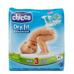 Chicco Dry Fit Midi T3 Fraldas 4-9kg 21unid.