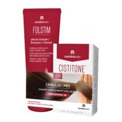 Cistitone Forte Anti-Queda Fortificante Kit Cápsulas + Champô
