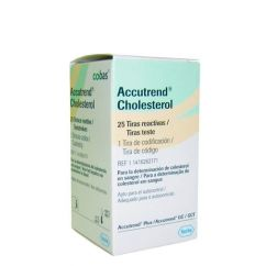 Accutrend Colesterol Tiras Teste 25unid.