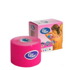 Cure Tape Banda Adesiva Kinésio Rosa 5mx5cm