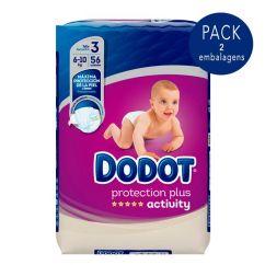 Dodot Activty T3 Pack Fraldas 6-10kg 2x56unid.