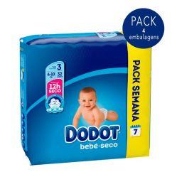 Dodot Bebé Seco T3 Pack Fraldas 6-10kg 4x32unid.