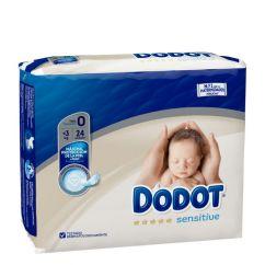 Dodot Sensitive Recém-Nascido T0 Fraldas < 3kg 24unid.