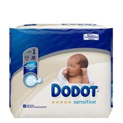 Dodot Sensitive Recém-Nascido T1 Fraldas 2-5kg 28unid.