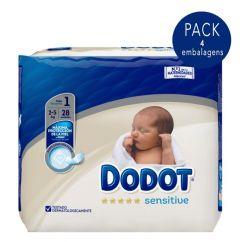 Dodot Sensitive Recém-Nascido T1 Pack Fraldas 2-5kg 4x28unid.