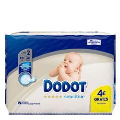 Dodot Sensitive Recém-Nascido T2 Fraldas 4-8kg 34unid.