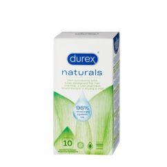 Durex Naturals Preservativos Lubrificantes 10un