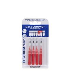 Elgydium Clinic Escovilhões Mono Compact Vermelho 4unid.