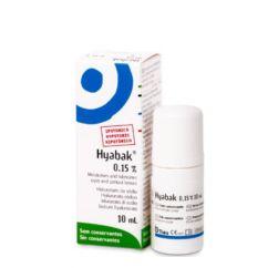 Hyabak 0.15% Solução Hipotónica Gotas Oftálmicas 10ml