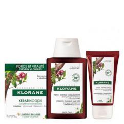 Klorane Quinina Bio Kit Shampoo + Condicionador + Cápsulas