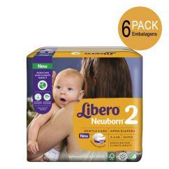 Libero Newborn Tamanho 2 Pack Fraldas 3-6 kg 6x34unid.