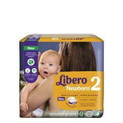 Libero Newborn Tamanho 2 Fraldas 3-6 kg 34unid.