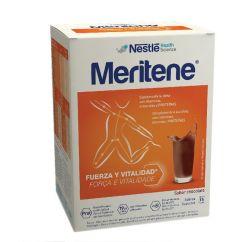 Meritene Força e Vitalidade Chocolate Bebida Solúvel em Pó 15unid.