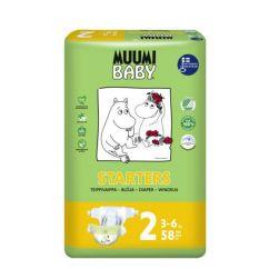 Muumi Baby T2 Fraldas 3-6kg 58 unid.