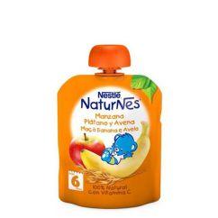 Nestlé Naturnes Pacotinho Fruta Maçã-Banana-Aveia 6M+ 90gr