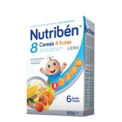 Nutribén Papa 8 Cereais e 4 Frutas Láctea com Glúten 6M 600g