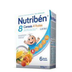 Nutribén 8 Cereais e 4 Frutas Papa Láctea com Glúten 6M 300g