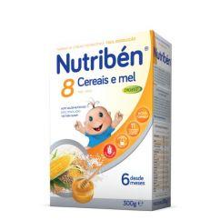 Nutribén 8 Cereais e Mel Digest Papa Não Láctea com Glúten 6M 300g