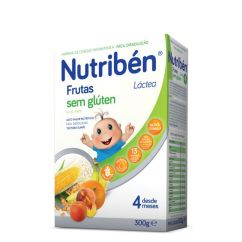 Nutribén Frutas Papa Láctea sem Glúten 4M 300g
