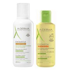 A-Derma Exomega Control Pack Bálsamo Emoliente oferta Óleo Duche