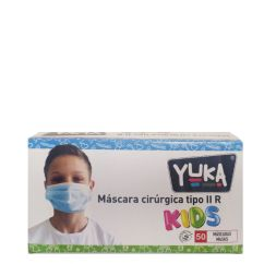 Yuka Máscaras Cirúrgicas Tipo IIR Criança 50unid.