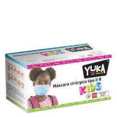 Yuka Máscaras Cirúrgicas Tipo IIR Criança Cor Rosa 50unid.